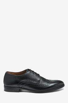 Next Wide Fit Brogue Shoe