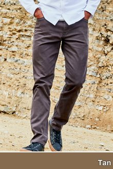 Next Jean Style Bedford Trousers-Slim Fit