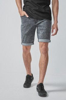 Next Snow Wash Denim Shorts