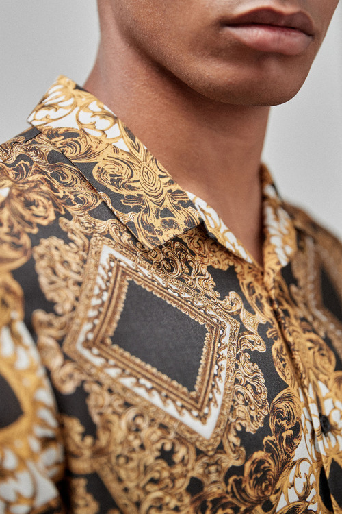 Next Baroque Print Short Sleeve Shirt