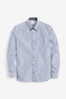 Next Double Collared Shirt-Slim Fit