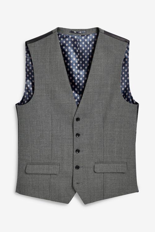 Next Empire Mills Signature Textured Suit: Waistcoat