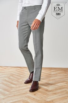 Next Empire Mills Signature Check Suit: Trousers