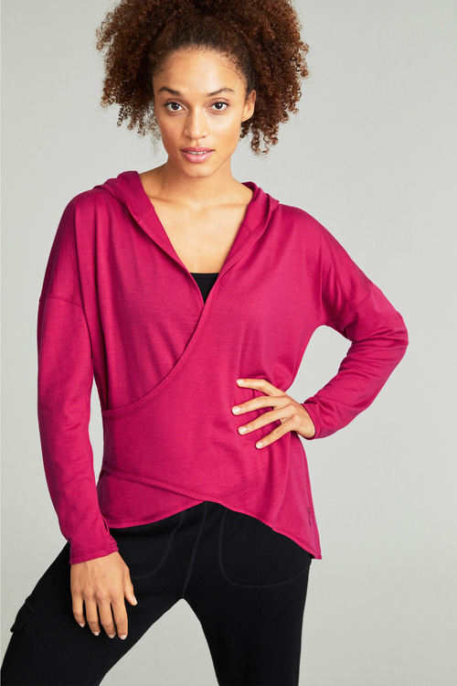 Isobar Merino Wrap Front Jumper