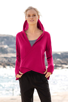 Isobar Merino Wrap Front Jumper - 242920