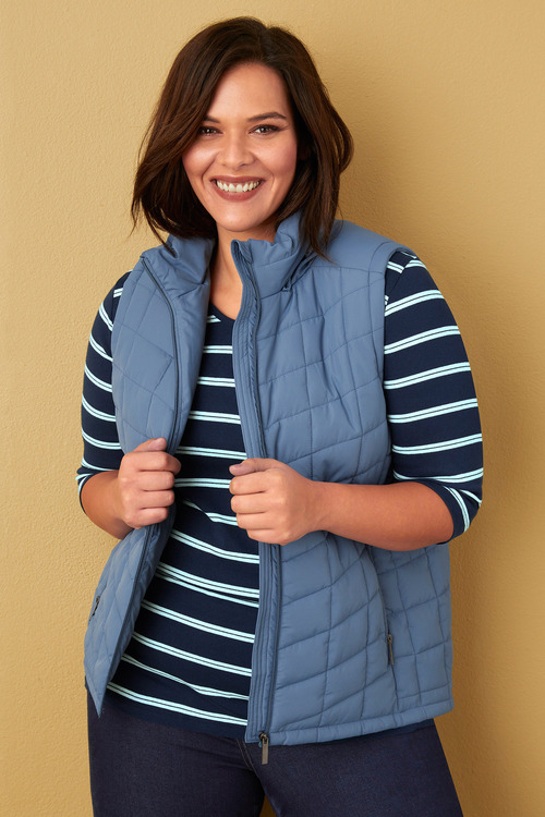 Sara Hooded Puffer Vest