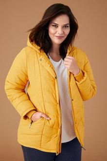 Plus Size - Sara Hooded Puffer Jacket - 242939