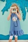Next Blue Drop Waist Dress (5-16yrs)