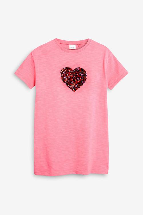 Next Pink T-Shirt Dress