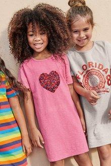 Next Pink T-Shirt Dress - 243031