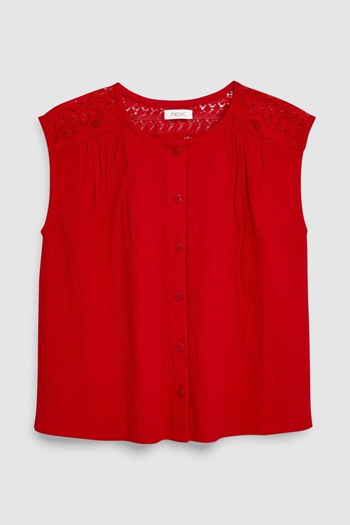 Next Red Lace Detail Blouse (5-16yrs)