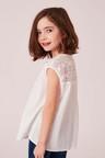 Next White Lace Detail Blouse (5-16yrs)