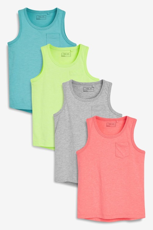 Next Bright Vests Four Pack (3-16yrs)