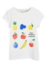 Next White Sequin Fruit T-Shirt