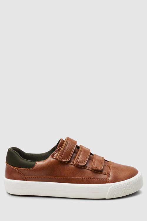 Next Tan Triple Strap Shoes