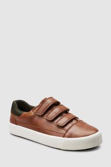 Next Tan Triple Strap Shoes - 243162