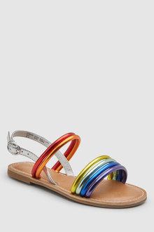 Next Rainbow Strappy Sandals - 243164