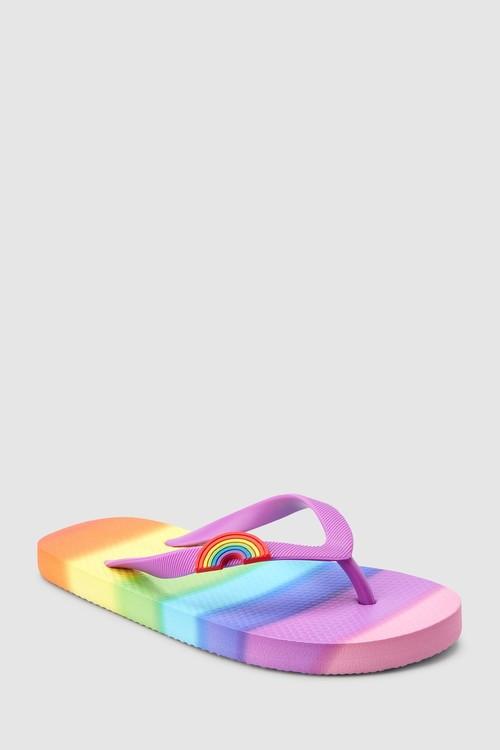 Next Rainbow Flip Flops
