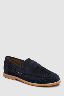 Next Suede Woven Loafers (Older) - 243169