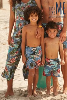Next Matching Family Boys Hawaiian Print Swim Shorts (3mths-16yrs) - 243180