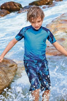 Next Glitchy Print Rash Vest (3-16yrs)