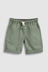 Next Khaki Linen Blend Pull-On Shorts