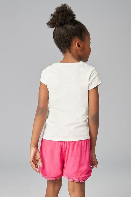 Next Pink Pom Pom Trim Shorts