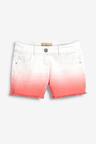 Next Coral Dip Dye Denim Shorts