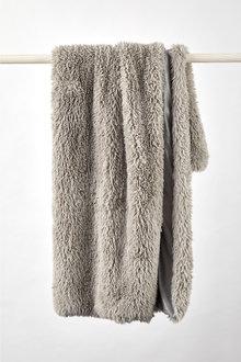 Shetland Faux Fur Throw