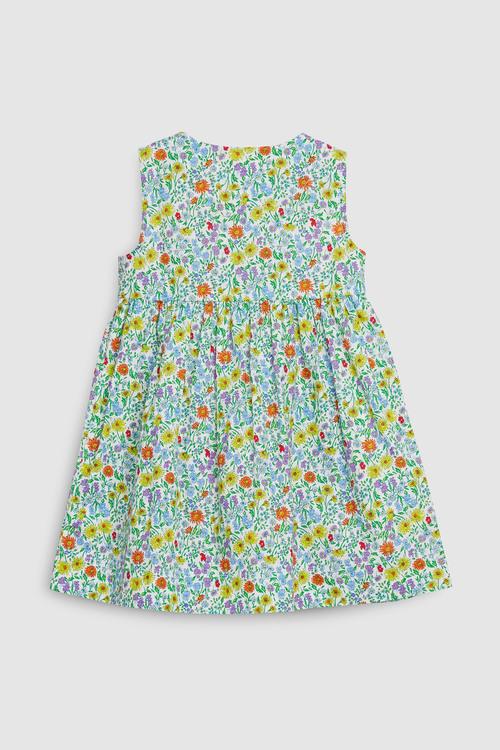 Next Green Button Through Dress