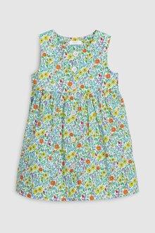 Next Green Button Through Dress - 243446