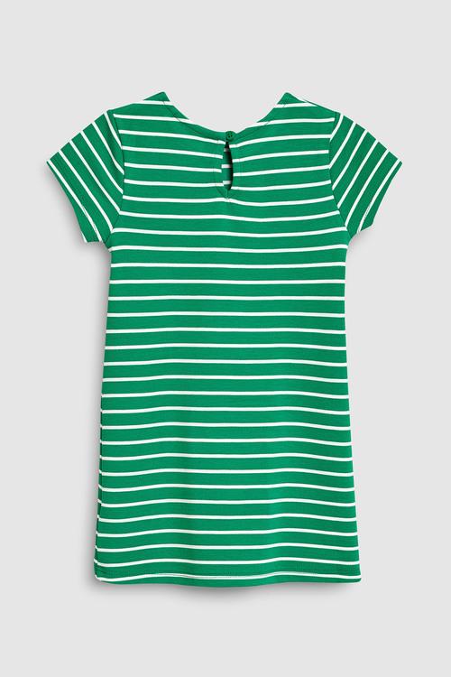 Next Green/White Stripe Dress