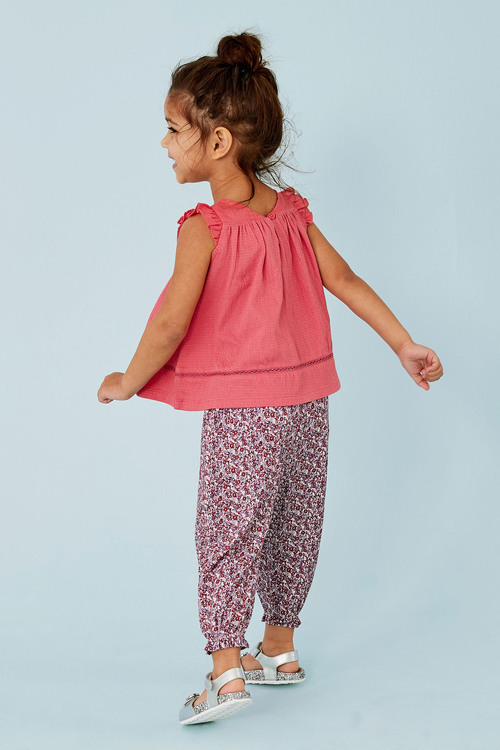 Next Pink T-Shirt And Trousers Set