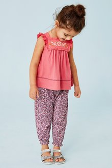 Next Pink T-Shirt And Trousers Set - 243460