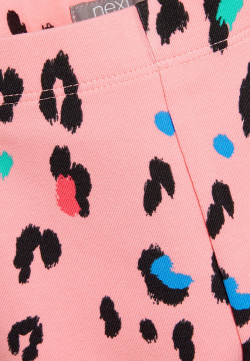 Next Bright Pink Leopard Print Cropped Leggings
