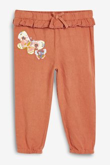 Next Rust Butterfly Detail Pull-On Trousers - 243478