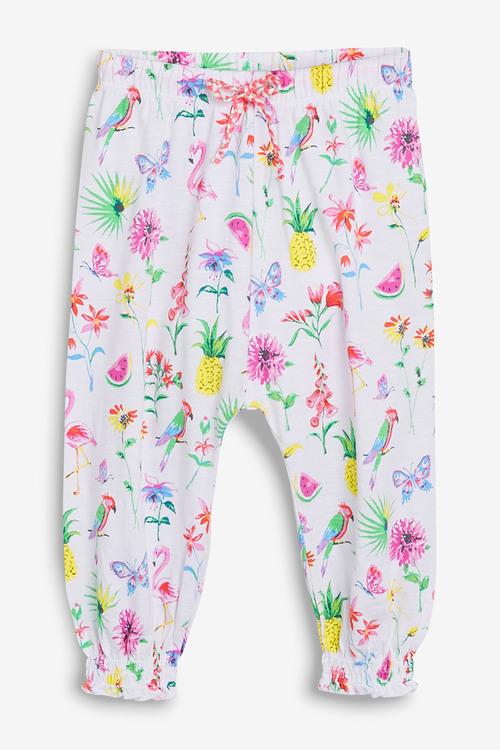Next White Print Traveller Pants (3mths-7yrs)
