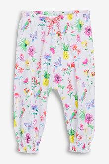 Next White Print Traveller Pants (3mths-7yrs) - 243485