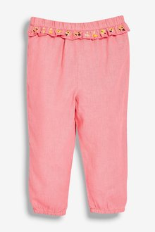 Next Pink Bunny Embroidered Trousers (3mths-7yrs) - 243486