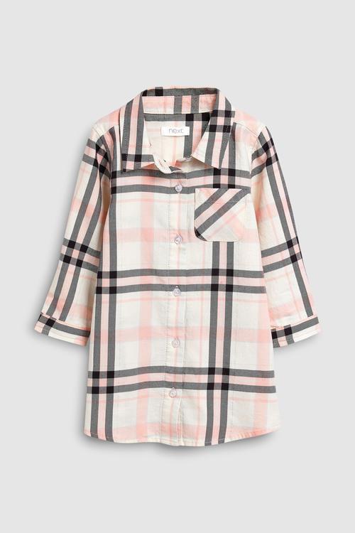 Next Pink Check Shirt Dress (3mths-7yrs)