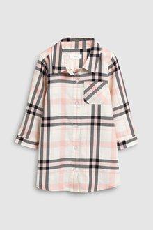Next Pink Check Shirt Dress (3mths-7yrs) - 243490