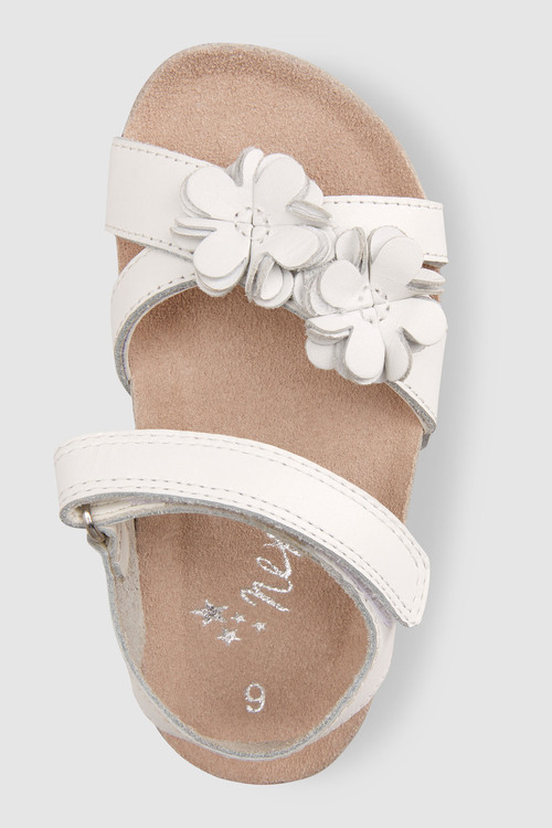 Next White Flower Corkbed Sandals