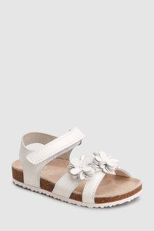 Next White Flower Corkbed Sandals - 243492