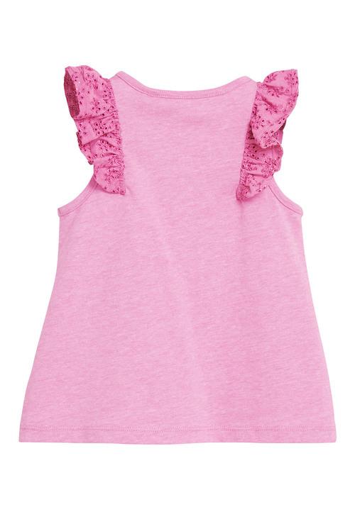 Next Bright Pink Frill Vest (3mths-7yrs)