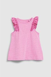 Next Bright Pink Frill Vest (3mths-7yrs) - 243505