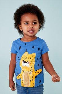Next Blue Cheetah Short Sleeve Interactive T-Shirt - 243513