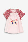 Next Pink Embroidered Butterfly Short Sleeve T-Shirt