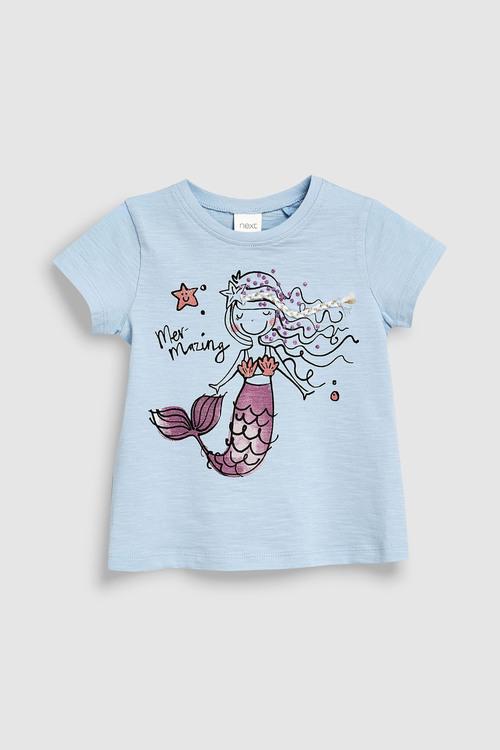 Next Blue Embellished Mermaid T-Shirt