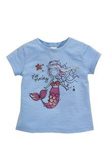 Next Blue Embellished Mermaid T-Shirt - 243520