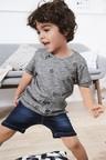 Next Dark Blue Jersey Denim Pull-On Shorts